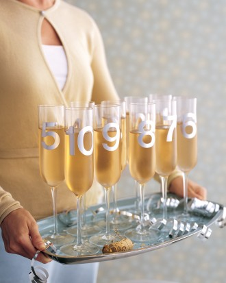 Numbered Champagne Glasses