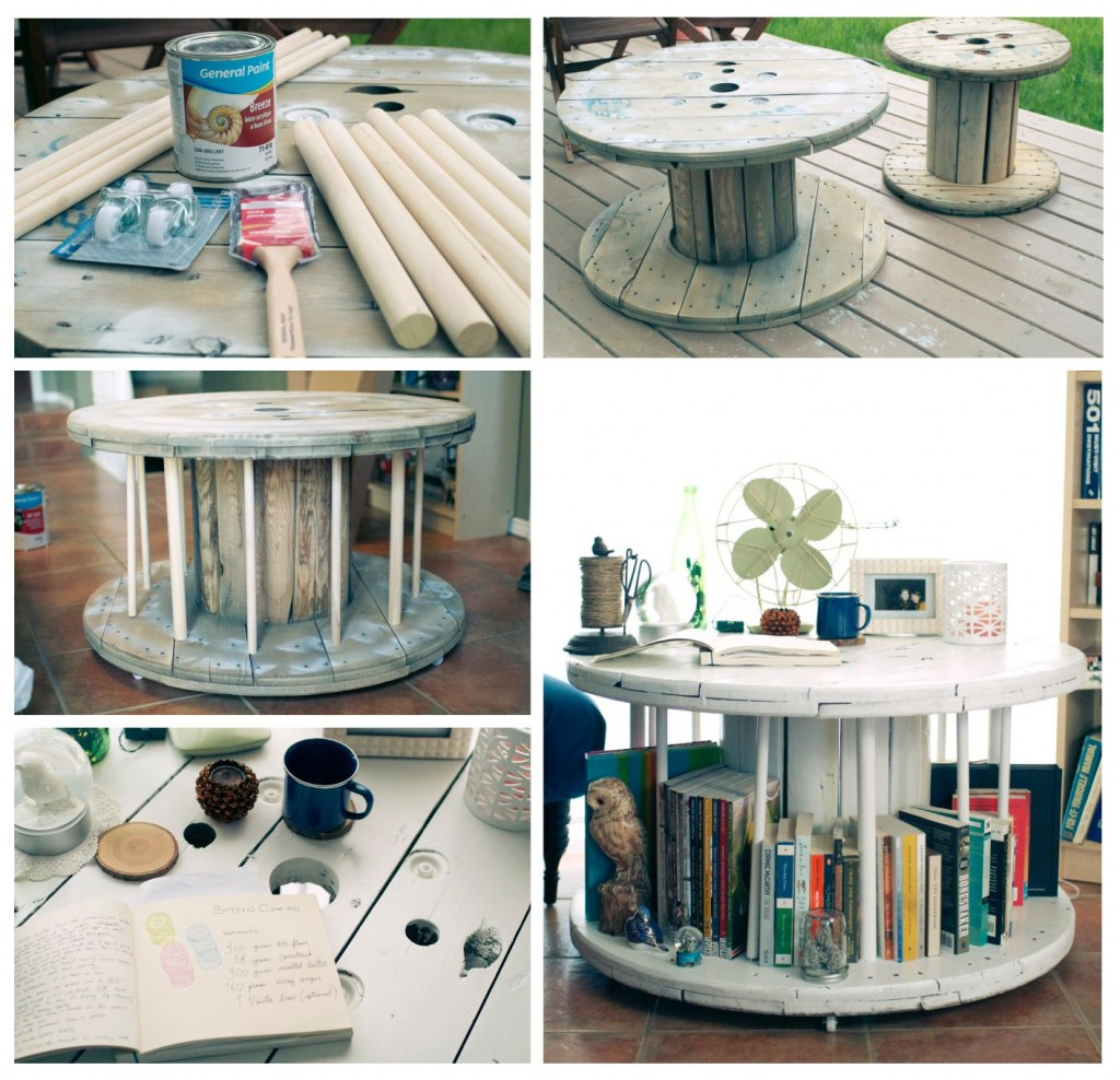 Old Spool Library Table