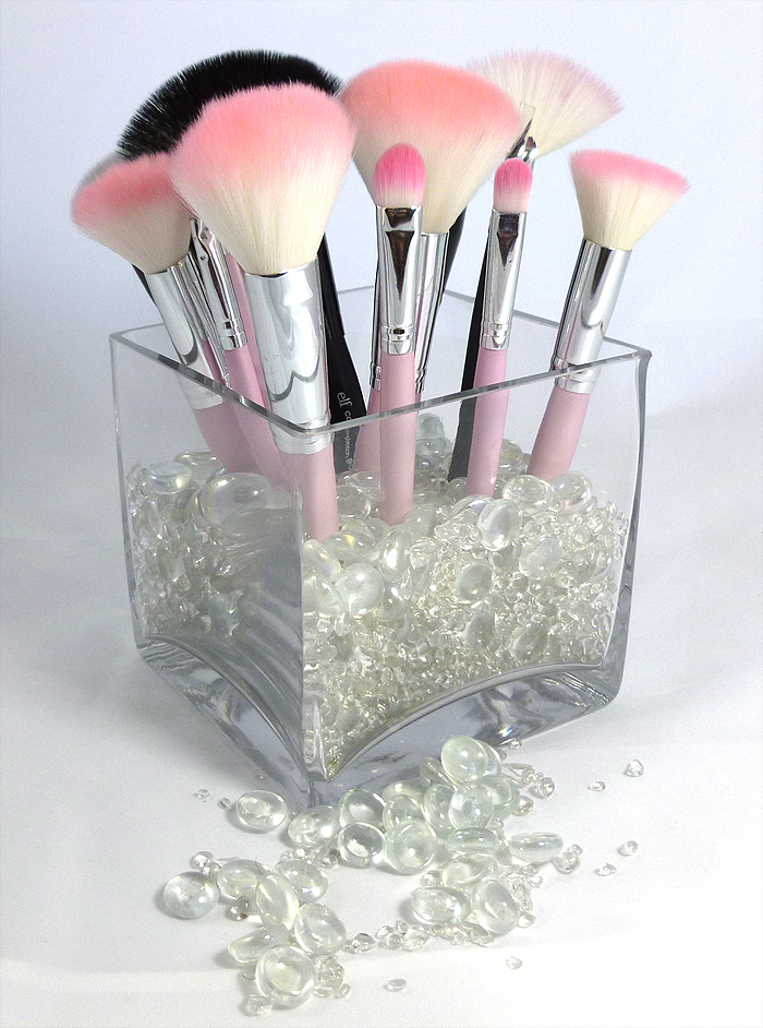 Organized Makeup Brush Display