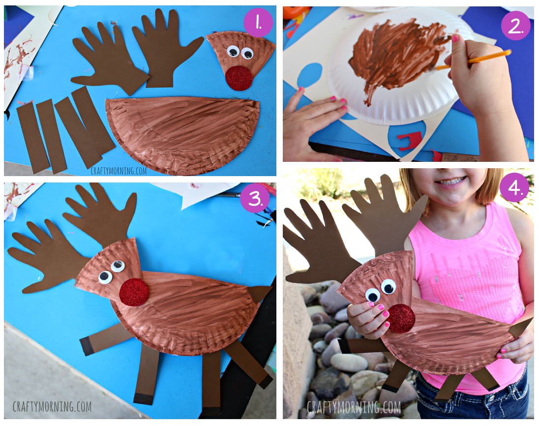 Paper Plate Reindeer This Attractive Craft Is Made