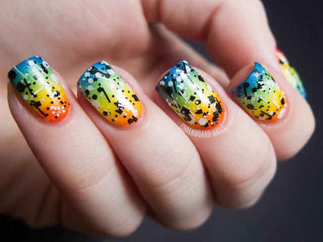Rainbow Nails For Sunny Days