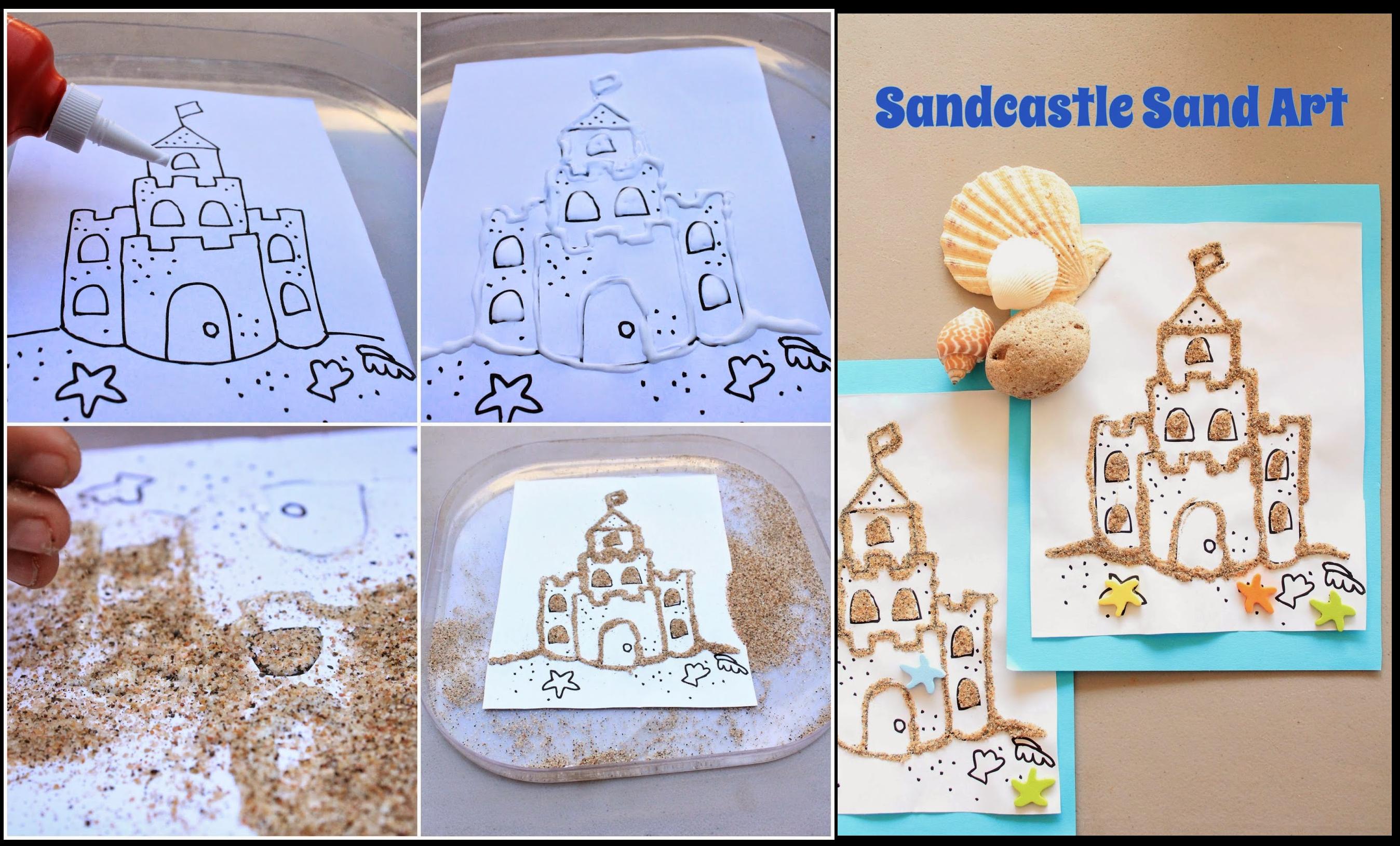 Sand Castle Sand Art