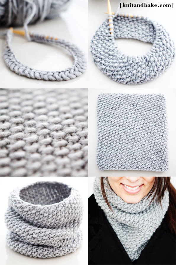 Knitting Pattern For Scarf In The Round : How to Knit - 45 Free and Easy Knitting Patterns   Cute DIY Projects