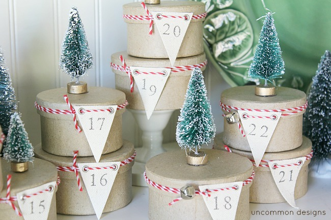 Simple Tree Topped Mini Box Advent Calendar