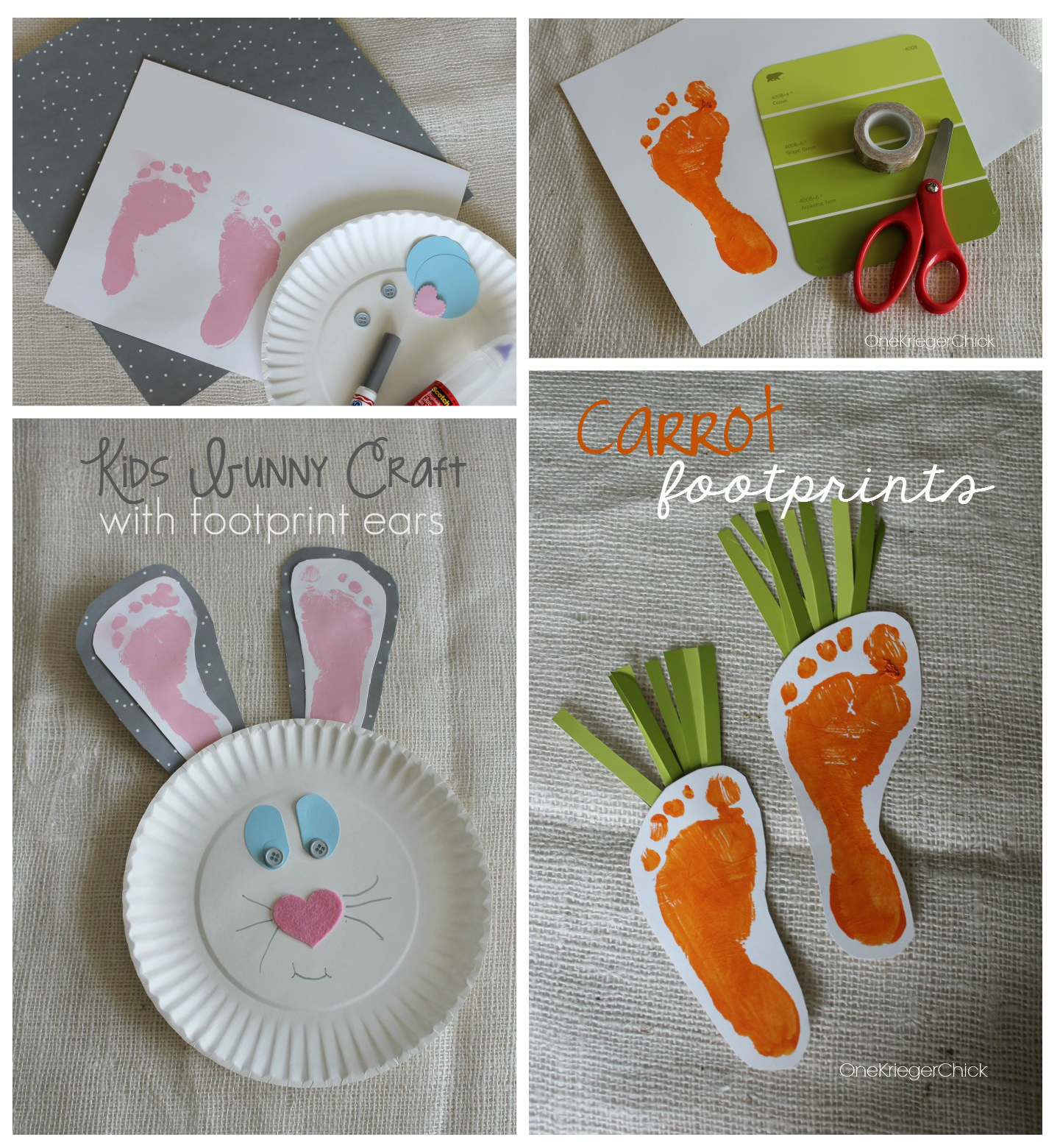 Spring Footprint Art