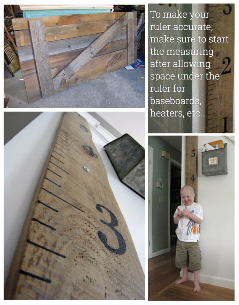 12 amazing diy rustic home decor ideas cute diy projects 5 the wall ruler solutioingenieria Gallery