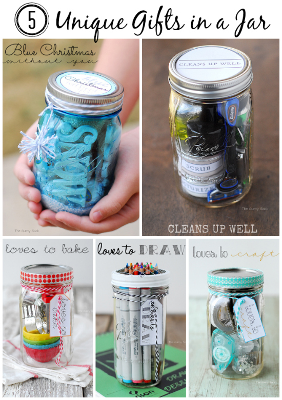 40 awesome and cheap diy ways to recycle mason jars for Unique ideas for christmas gifts