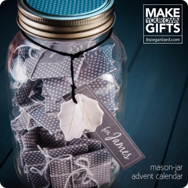 Turn Your Mason Jar Into An Advent Calendar