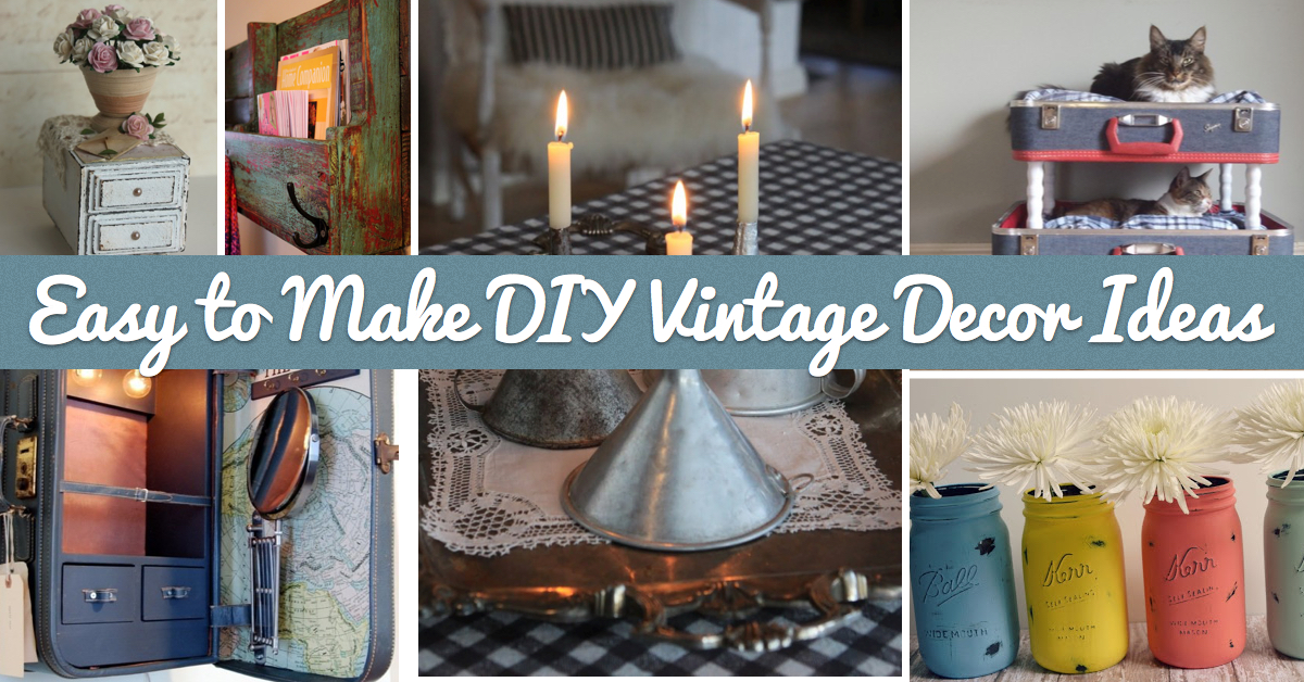 25 easy to make diy vintage decor ideas cute diy projects Retro home ideas