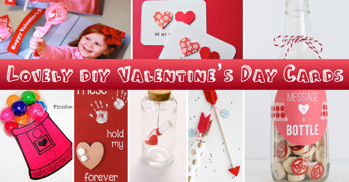 25 Lovely DIY Valentines Day Cards and Gifts Cute DIY Projects – Card Valentine Handmade