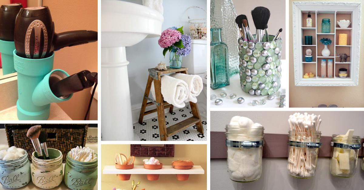 30 Diy Storage Ideas To Organize Your Bathroom Cute Diy