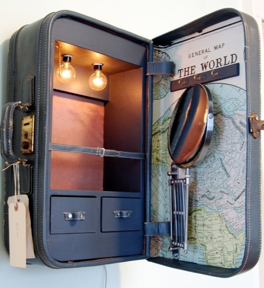 Cabinets Made from Suitcases