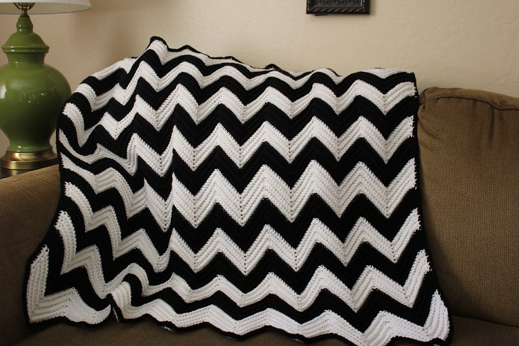Free Baby Chevron Crochet Pattern : Chevron Afghan Crochet Pattern Pictures to pin on Pinterest