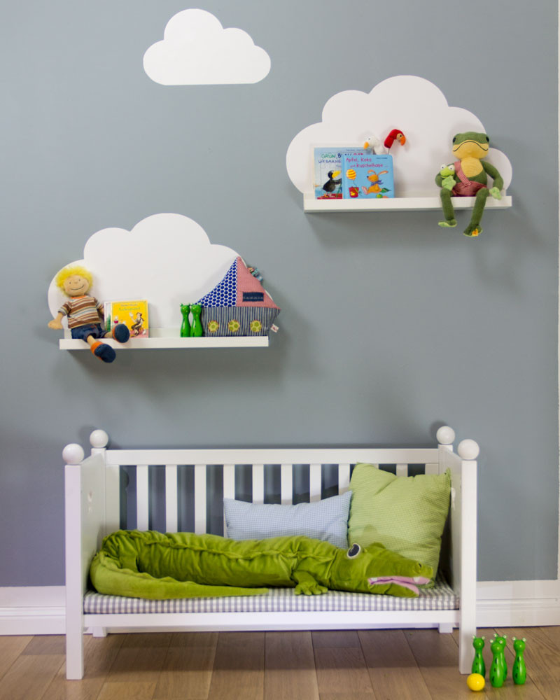 These Cloud Shaped Shelves Are A Great Choice For Children Who Love To Read Take Your Kids Room Storage E The Next Level With This Diy Tutorial