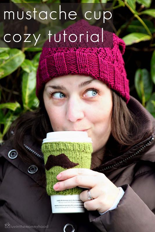 Cozy Mustache Cup