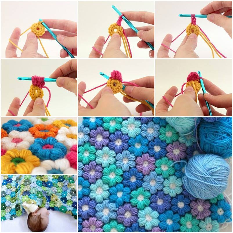 Crochet Flower Pattern Blanket : 25+ Free Baby Blanket Crochet Patterns ? Cute DIY Projects