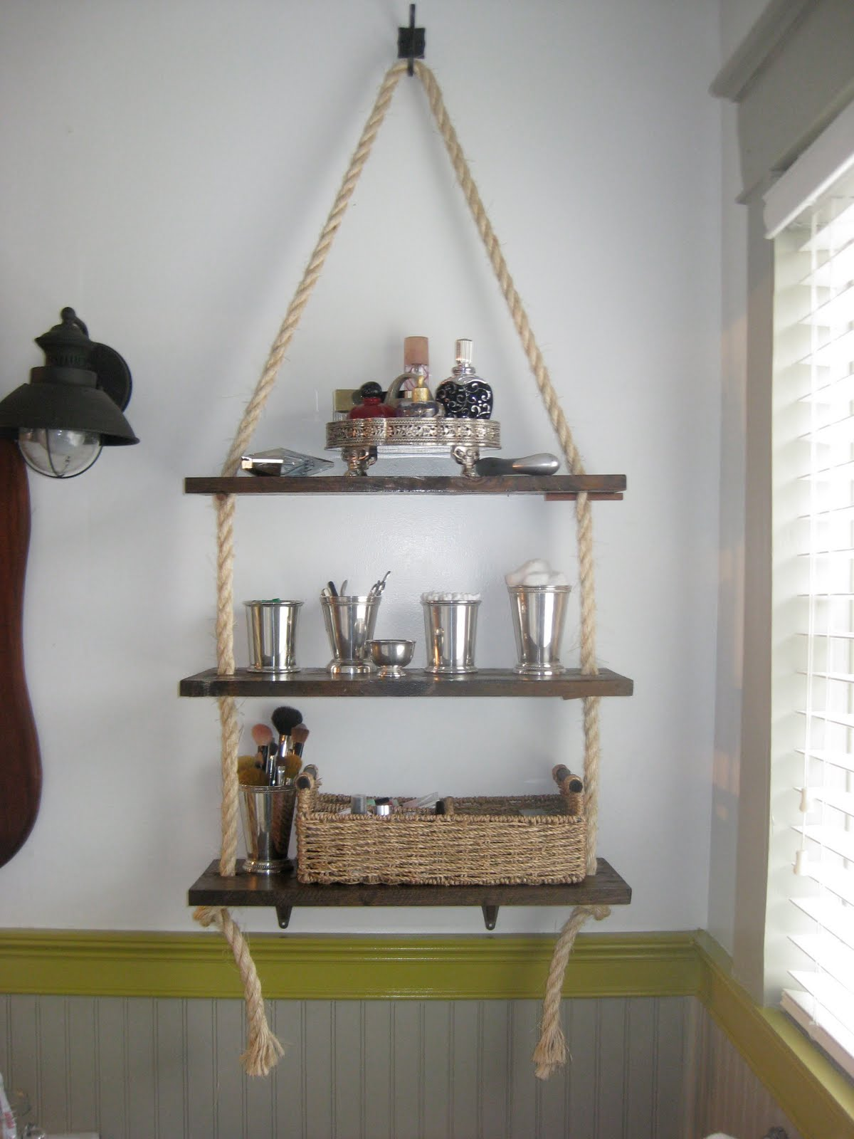 DIY Bathroom Shelving