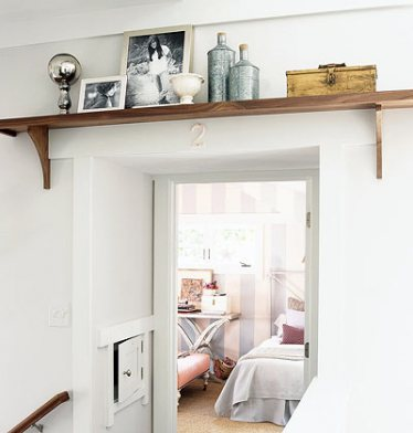 DIY Doorway Shelf