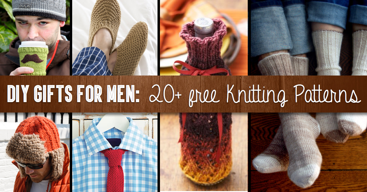 Diy Gifts For Men 20 Free Knitting Patterns To Take Your Loved One