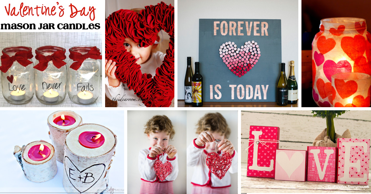Diy home decor ideas for valentine 39 s day cute diy projects for Valentine decorations to make at home