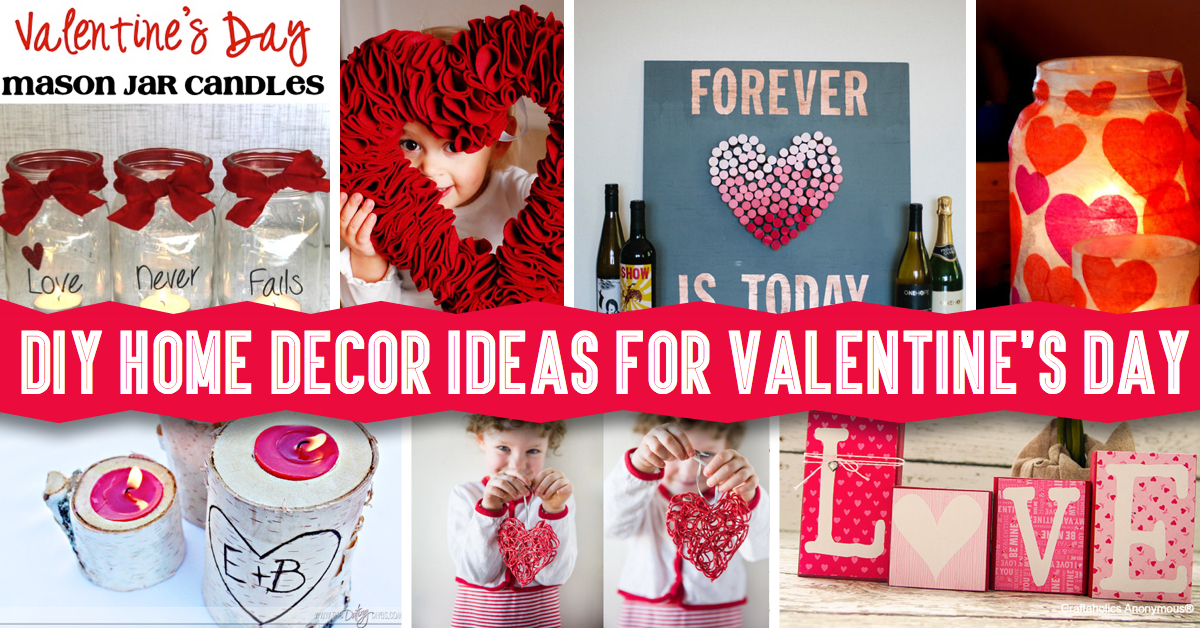 diy home decor ideas for valentine 39 s day cute diy projects. Black Bedroom Furniture Sets. Home Design Ideas