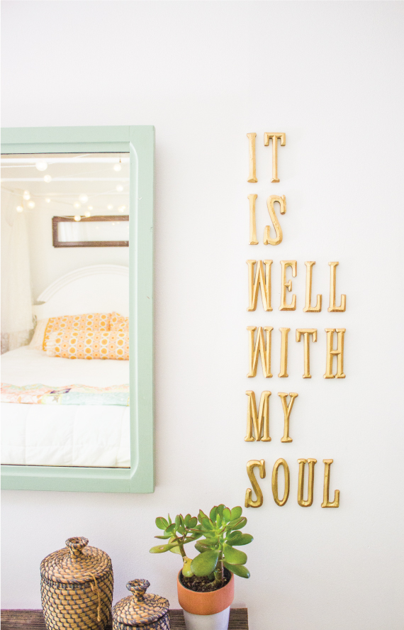 40 inspiring living room decorating ideas page 2 of 3 for Homemade wall letters