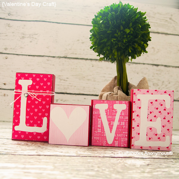 Diy home decor ideas for valentines day cute diy projects diy love blocks solutioingenieria