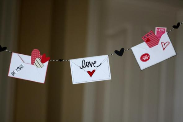 diy love letter valentines day dcor - Valentines Day Decor
