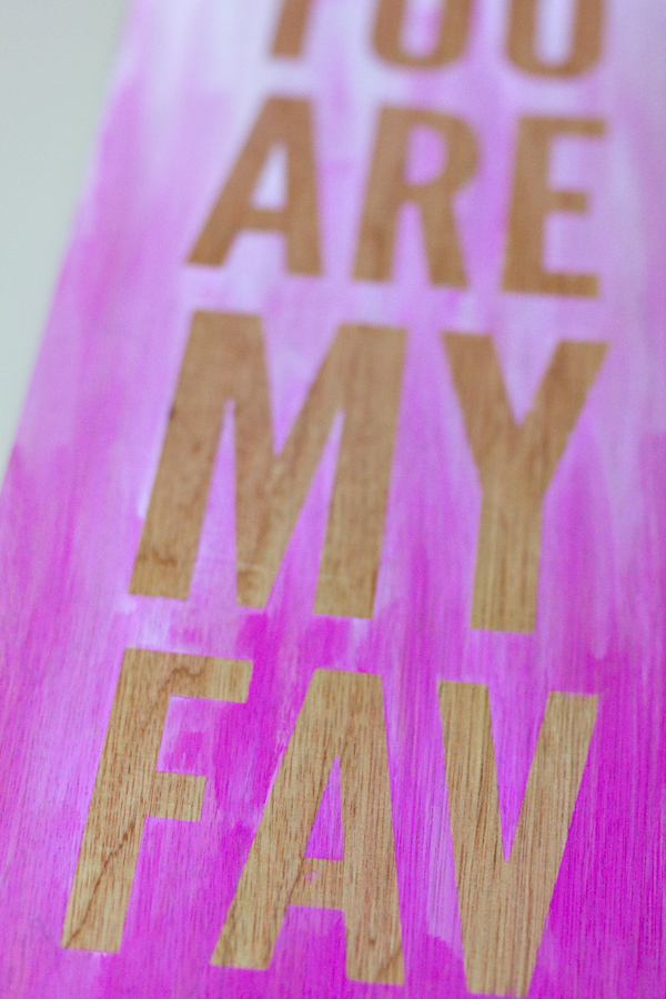 DIY Ombre quote wall art