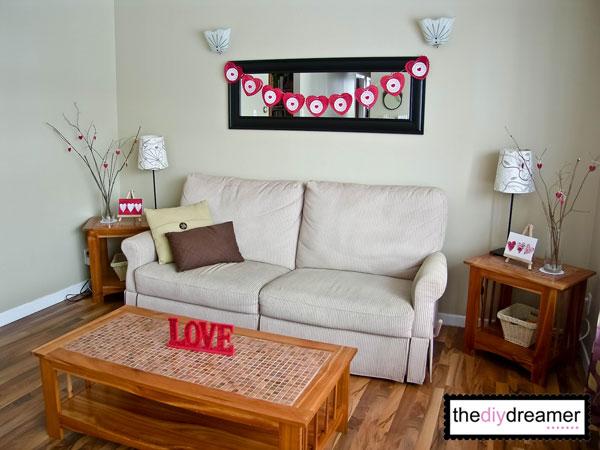 Valentine decorations ideas home home design 2017 for Home valentine decorations