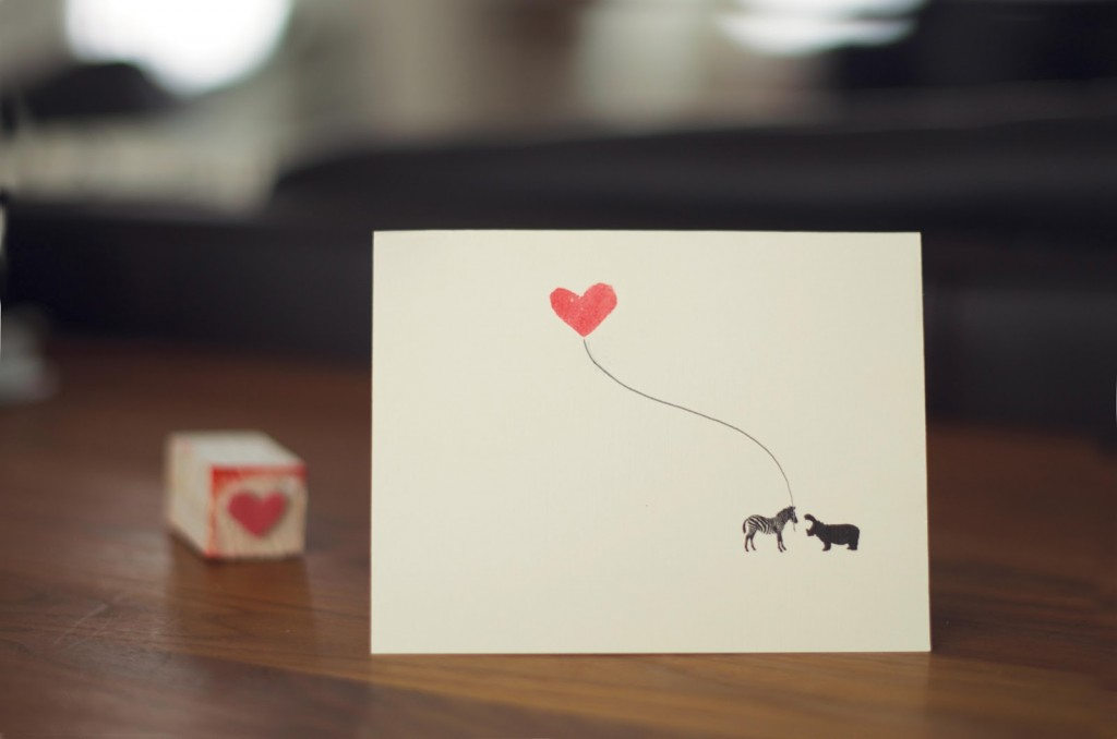 DIY Valentine Stamps W/ Printable