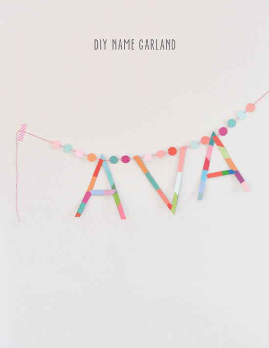 DIY name garland