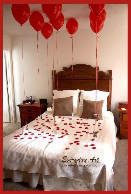 35 unique diy valentine 39 s day gifts for men for Bed decoration anniversary