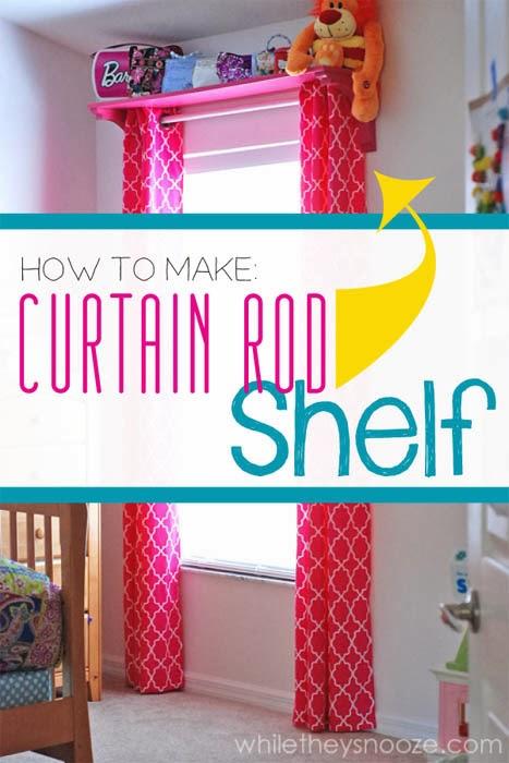Easy Curtain Shelf