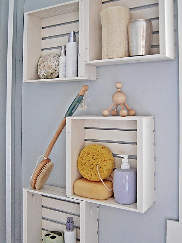Fast And Easy Bathroom Shelving