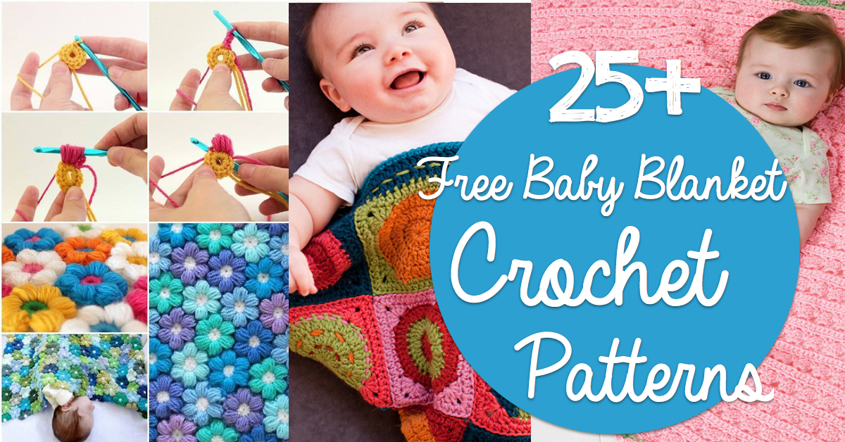 25 Free Baby Blanket Crochet Patterns Cute Diy Projects