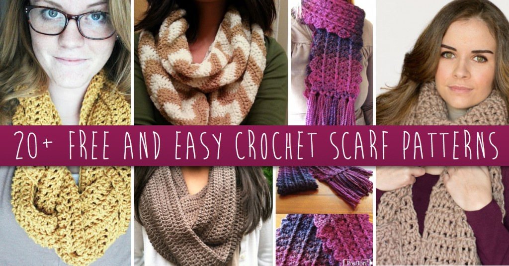 These 20+ Free and Easy Crochet Scarf Patterns Will Blow