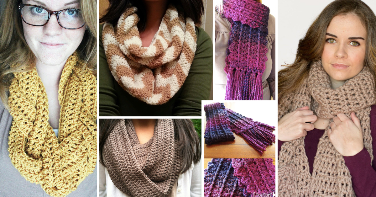 These 20 Free And Easy Crochet Scarf Patterns Will Blow Your Mind