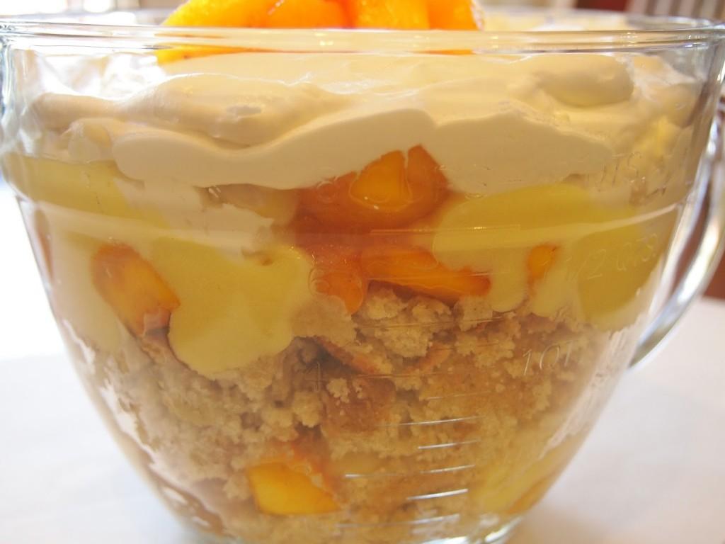 Gluten Free Peach Trifle