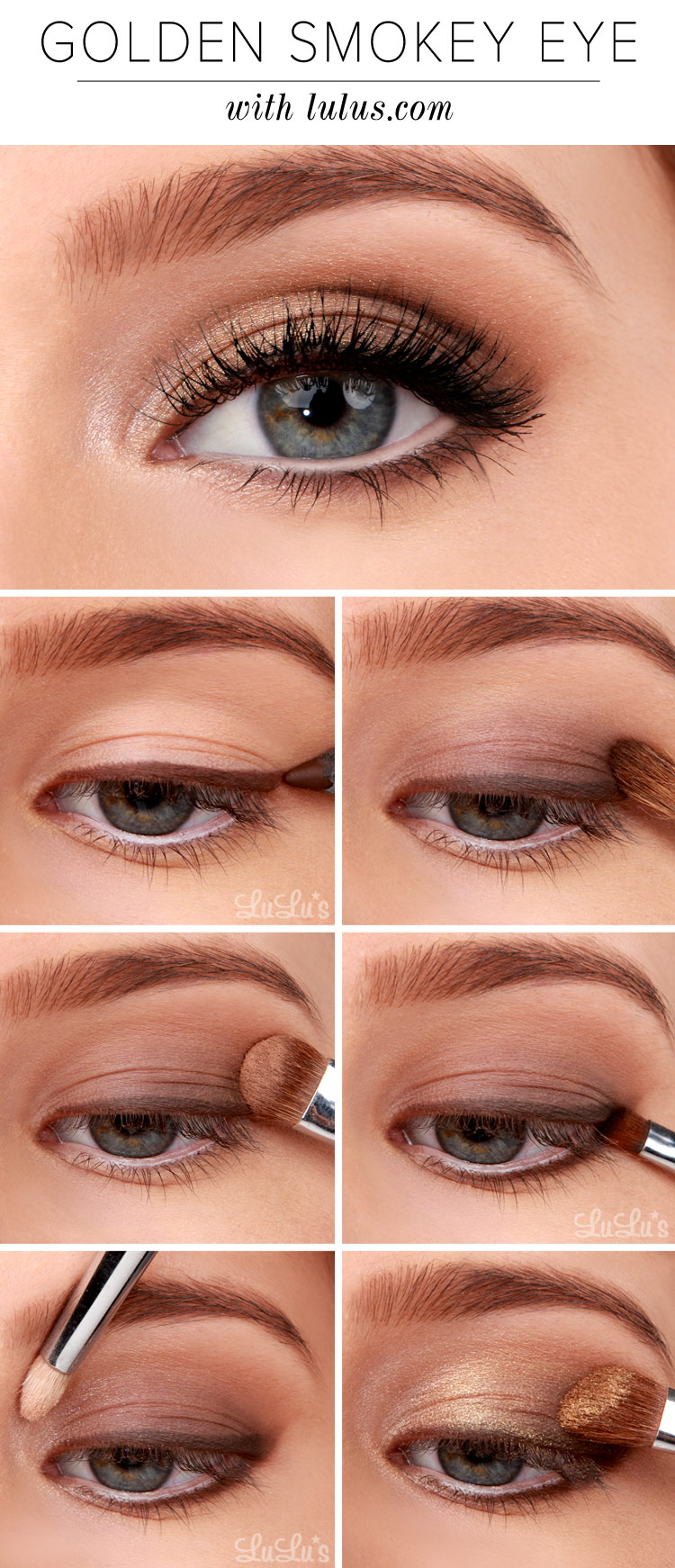 Golden Smokey Eyeshadow