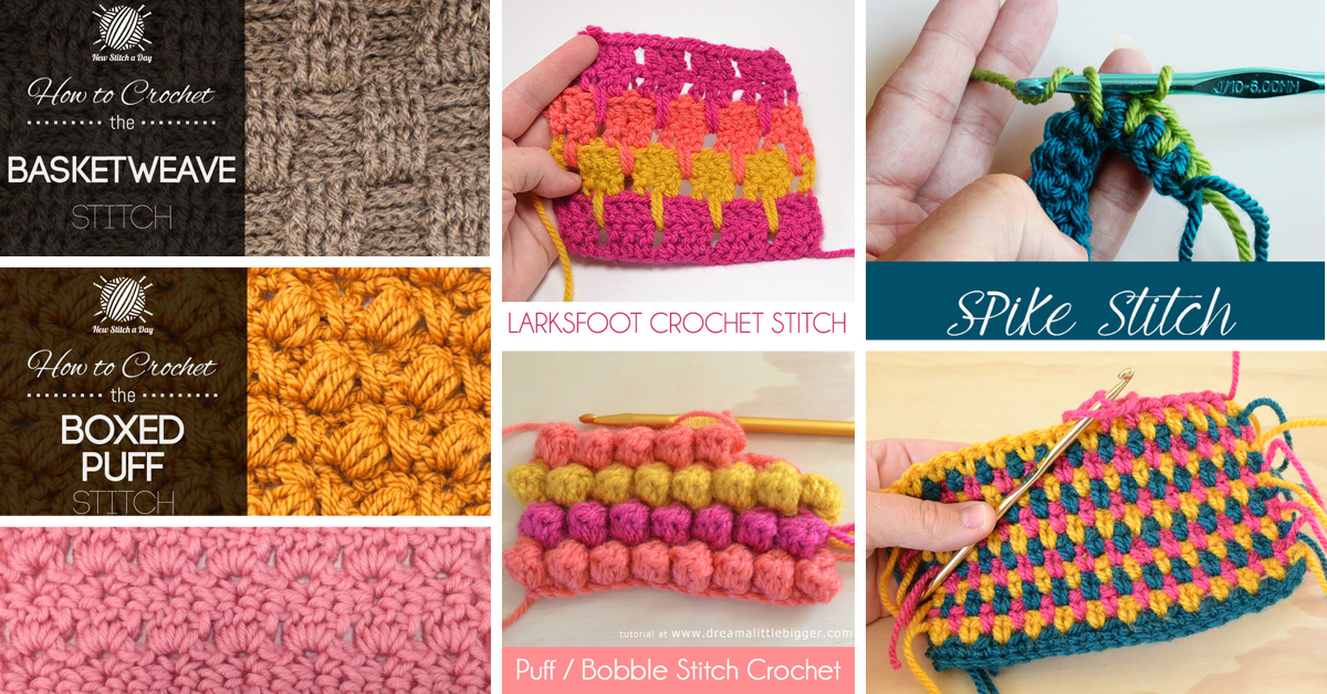 Crochet Stitches Tutorial : How To Crochet: 30+ Free Crochet Stitches and Tutorials - Cute DIY ...