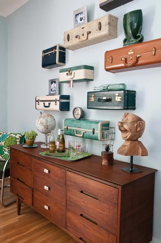 Ki Nassauer s Vintage Suitcase Shelves. 25  Easy to Make DIY Vintage Decor Ideas   Cute DIY Projects
