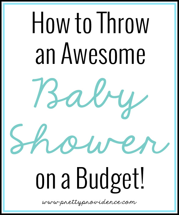 Knowing how to throw an awesome baby shower on a budget