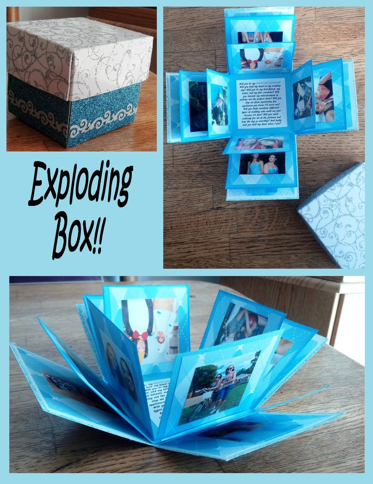 Lovely Exploding Photo Box Cute Diy Projects