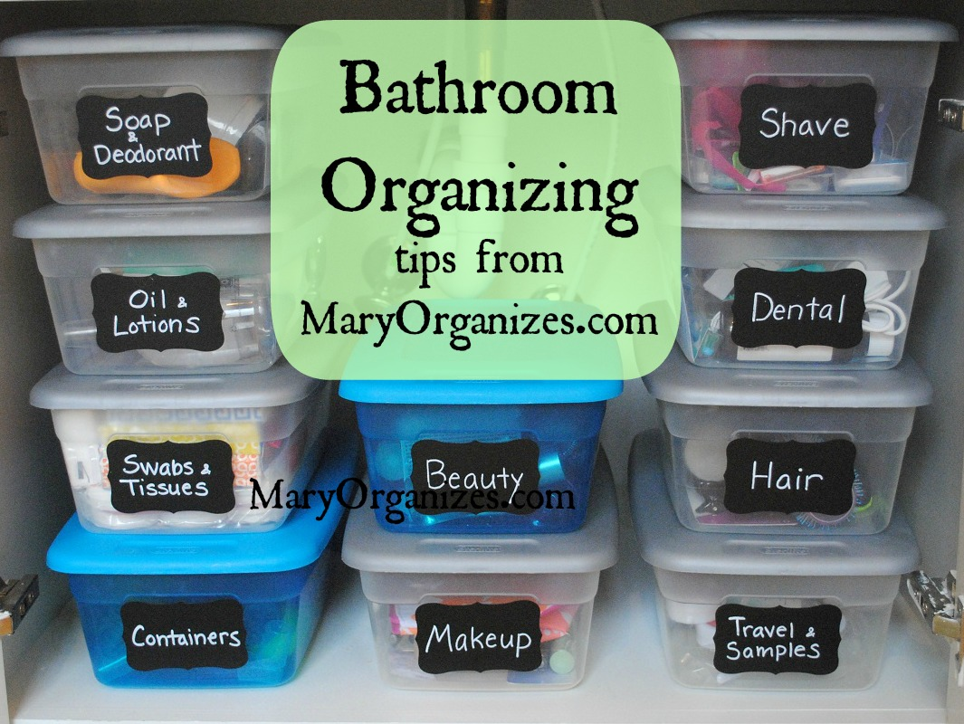 Diy bathroom storage ideas - Master Bathroom Organization