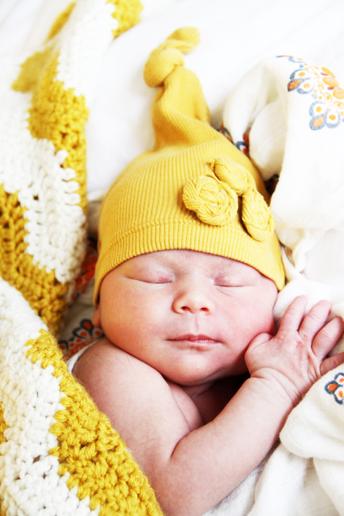 No sew up cycled baby hats