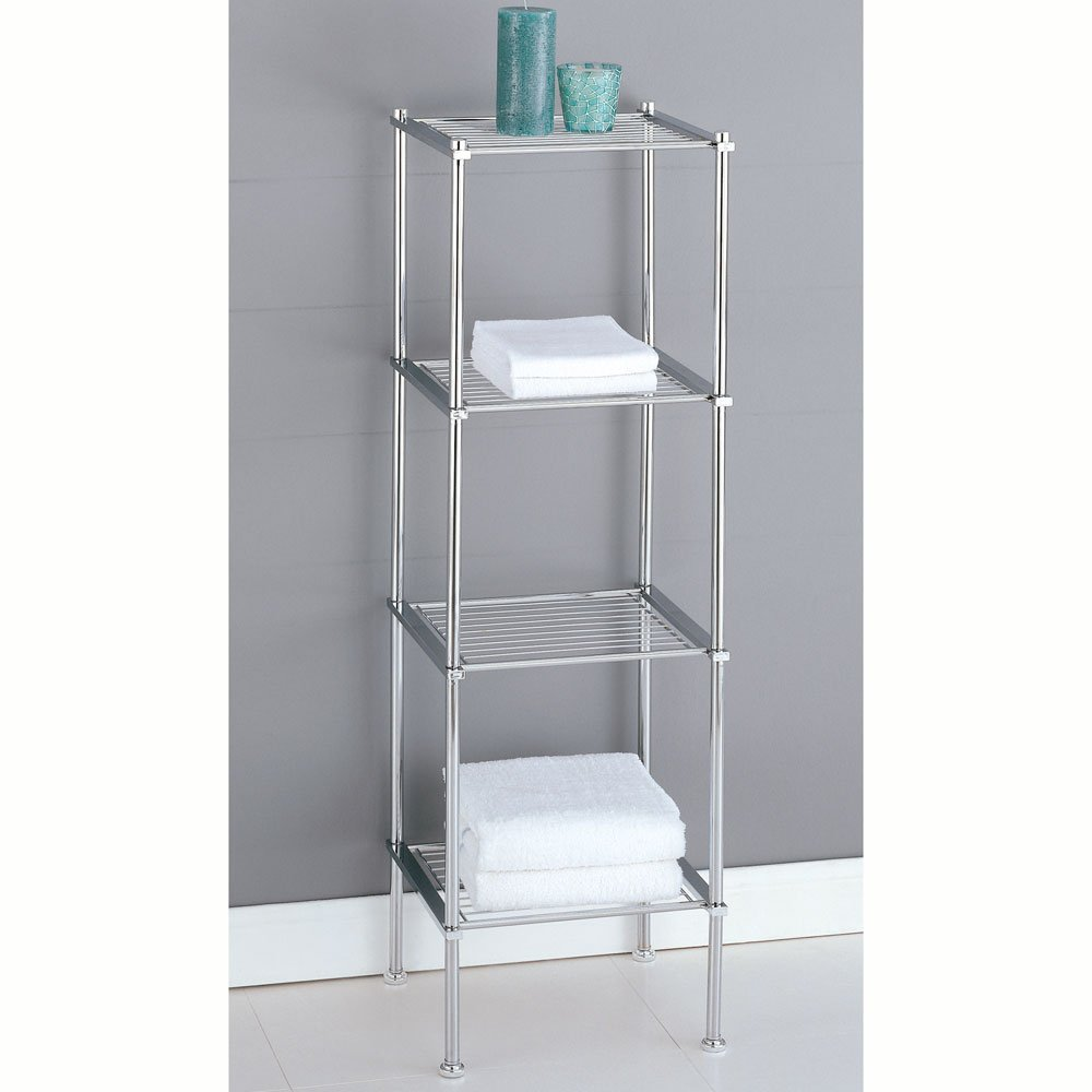 Metal Bathroom Storage Tower | Sevenstonesinc.com