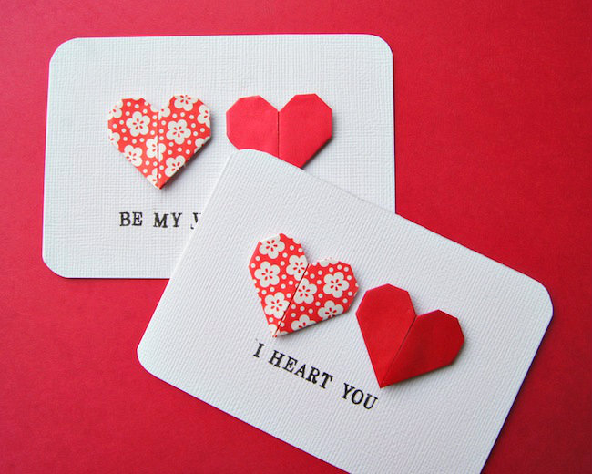 Card Making Ideas For Valentines Day Part - 41: Origami Heart Cards