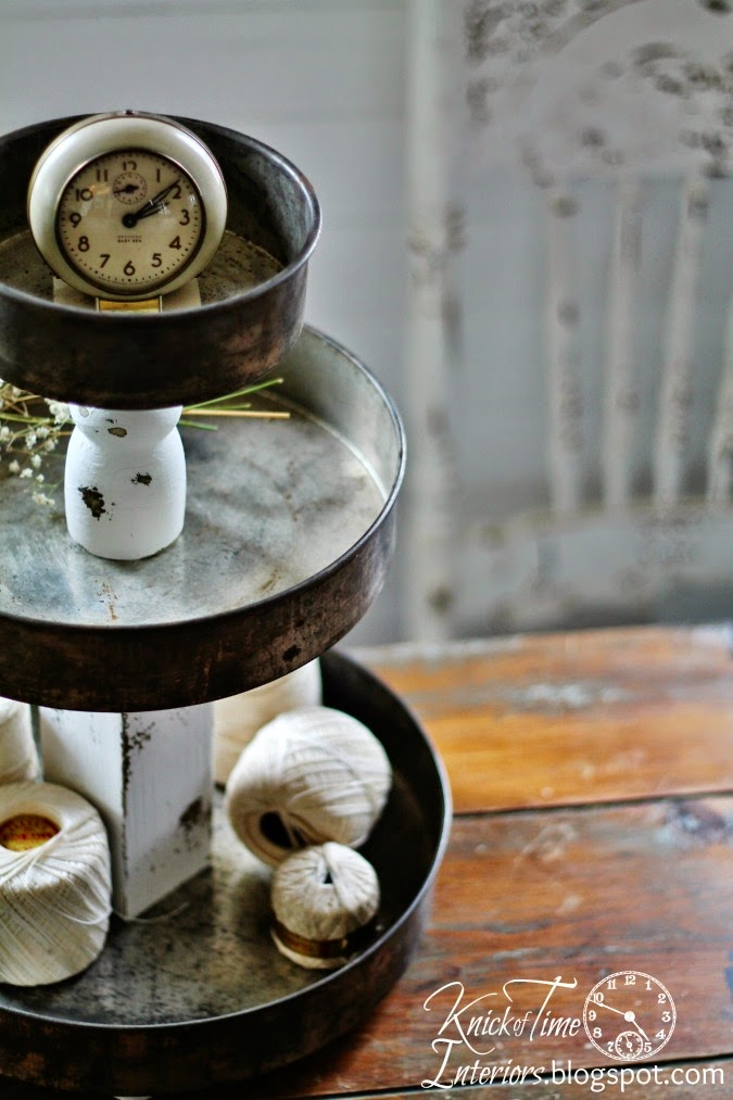 Repurposed Bowls & Tins Tiered Stands