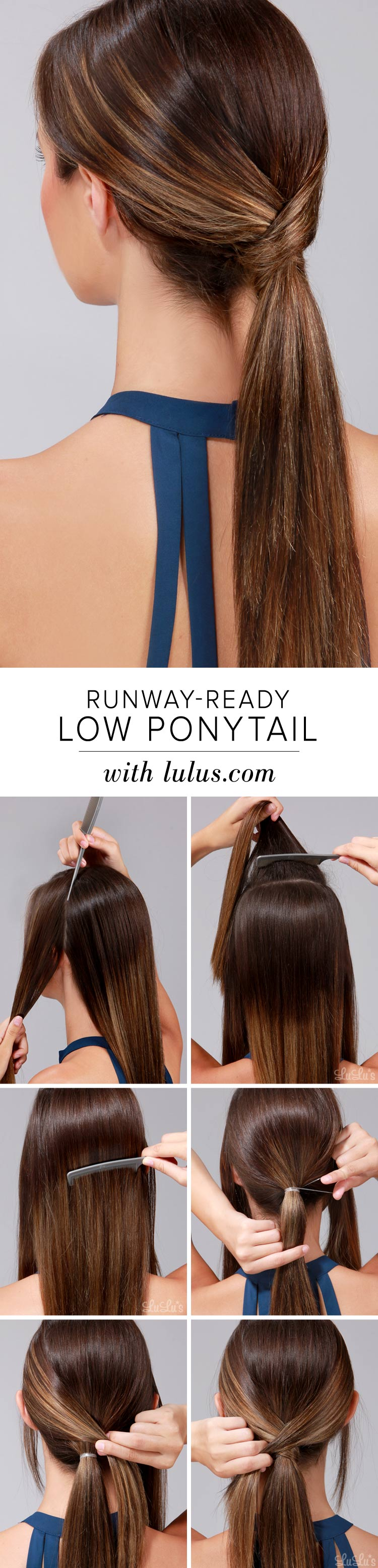 22 Runway Ready Low Ponytail Hairtyle